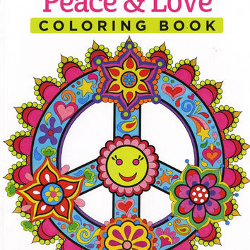 Peace and Love Adult Coloring Book