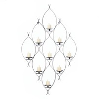 Ambit Wall Decor With 9 Candle Holder Platforms