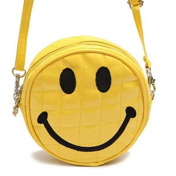 90s smiley face shoulder bag, crossbody bag
