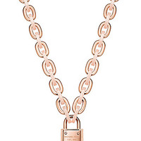Michael Kors Chain Link Padlock Toggle Necklace