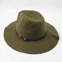 Out West Belted Hat in Olive