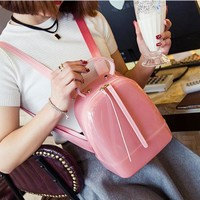 Hot Jelly Backpack Cute Candy Backpacks For Teenage Girls Plastic Silicone Waterproof Transparent Backpack PVC School Women Bag
