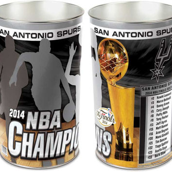 San Antonio Spurs 2014 NBA Champ Trashcan