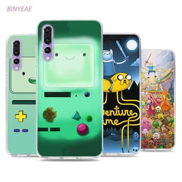 BINYEAE Adventure Time Beemo Jake Finn Lumpy Style Clear Soft TPU Phone Cases for Huawei P20 Lite Honor 9 8 Lite 7X 6A 6X 6C Pro