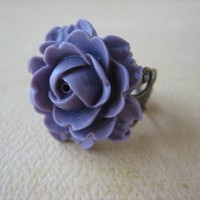 Purple Rose On Antique Brass Filigr.. on Luulla