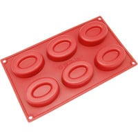 6-Cavity Silicone Double Oval  Soap Mold FREE Shipping