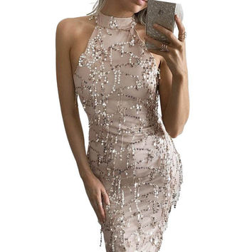 'Bad Gurl's Luck' Sequin Tassel Mermaid Bodycon