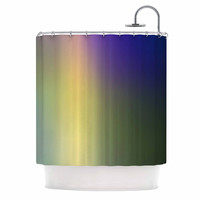 "Malia Shields ""Aura Series #4"" Multicolor Abstract Shower Curtain"