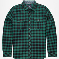 Roark Caste-Off Mens Flannel Shirt Green  In Sizes