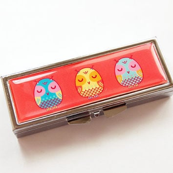 Owl Pill case, Pill Container, Owl, travel pill case, pill box, Pill Case, pill case for purse, owl pill box, owl case (3100)