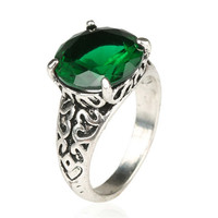 New Hot Vintage Retro Lady Old Silver Ring Womens Fashion Casual Jewelry Unique Best Gift Girl Rings-38