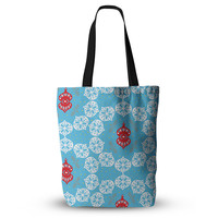 "Miranda Mol ""Frosted White"" Blue Holiday Everything Tote Bag"