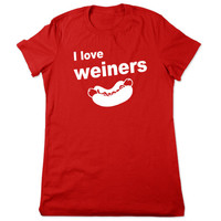 Funny Shirt, I Love Weiners, Funny Tshirt, Grilling Tshirt Hot Dog T Shirt, Funny Tee Hot Dog Tshirt, Cookout Tshirt, Ladies Women Plus Size