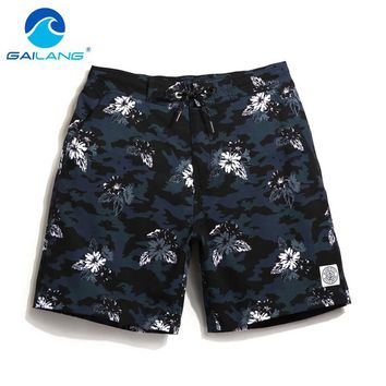 Men's Floral Print Blue Swimming Trunks