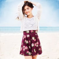 Hollister + Lucy Hale Cropped Burnout T-shirt