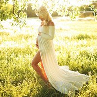 Maternity Chiffon dress Maternity photography props Elegant summer pregnant dress clothes for Pregnant women D3-26B