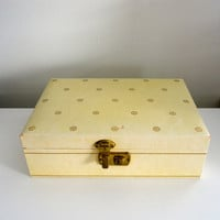 Mele Two Tier Jewelry Box in Pale Yellow with the Original Logo