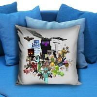 all character minecraft Pillow Case - pillowmug.com