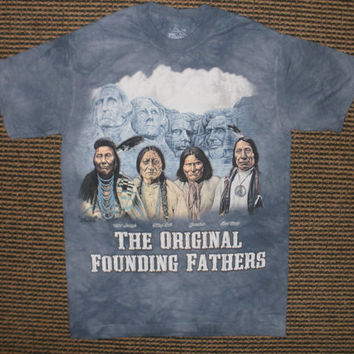 men's or woman's t-shirt, multicolored,stonewashed,original founding fathers size xl, brand new 100% preshrunk cotton