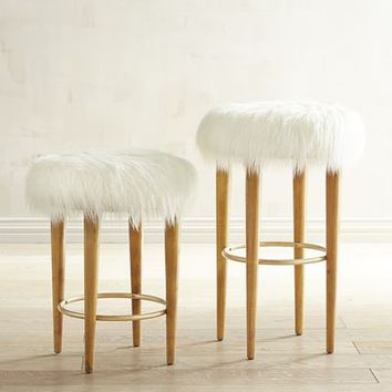 Kate Faux Fur Bar & Counter Stool