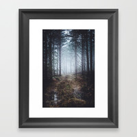 No more roads Framed Art Print by happymelvin
