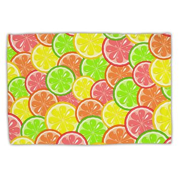 Colorful Citrus Fruits Standard Size Polyester Pillow Case All Over Print