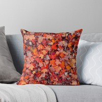 'AUTUMN LEAVES' Throw Pillow by IMPACTEES