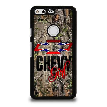 CAMO BROWNING REBEL CHEVY GIRL Google Pixel Case Cover