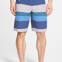 Men's Patagonia 'Wavefarer' Engineered Stripe Board Shorts