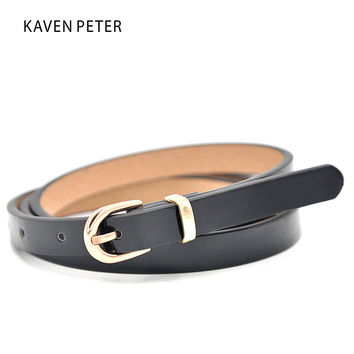 Fashion Women Waist Belt  With Simple Style Lady Golden Buckle Belts With Metal Loop Gold Metal Belt Free Shipping