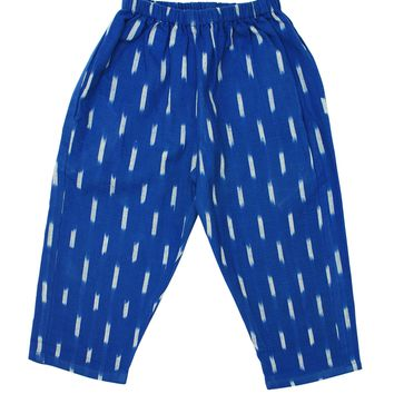 Blue Ikat Handwoven Cotton Pants