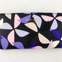 Kate Spade Hawthorne Lane Spinner Stacy Bifold Wallet Rich Navy Multi