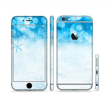 The Winter Blue Abstract Unfocused Sectioned Skin Series for the Apple iPhone 6 Plus
