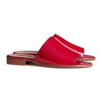 H&M - Leather Mules - Red - Ladies
