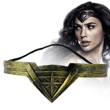 CREYCI7 Classic DC Comic Marvel Movie Wonder Woman Headband Diana Prince Superheroine Cosplay Bronze Crown Headwear Headgear Jewelry