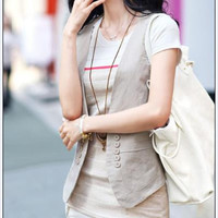 Free Shipping - Solid waistcoat sleeveless vests slim looking add to any outfits