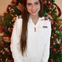 Vineyard Vines Holiday Tartan Shep Shirt- Marshmallow