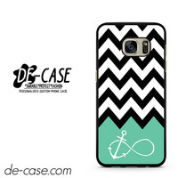 Black White Chevron Blue Infinity Anchor DEAL-1886 Samsung Phonecase Cover For Samsung Galaxy S7 / S7 Edge