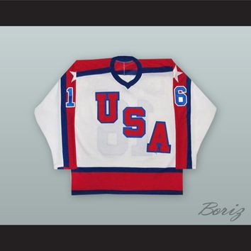 Pat Lafontaine 16 USA National Team White Hockey Jersey