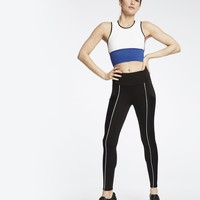 Michi Gradient Pocket Legging - Black/White