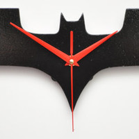 Batman Dark Knight wall clocks, handmade from wood