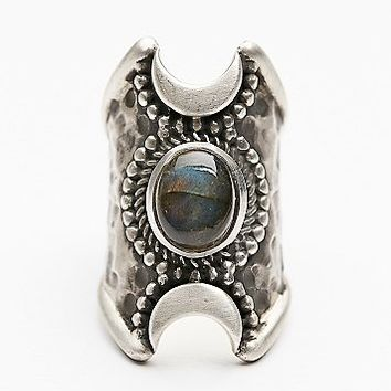Womens Crescent Moons Ring