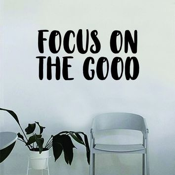 Focus on the Good Quote Decal Sticker Wall Vinyl Art Decor Bedroom Living Room Namaste Yoga Mandala Om Meditate Zen Buddha Lotus Good Vibes Positive
