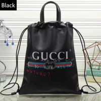 shosouvenir   Gucci Women Leather Snake Pattern Shoulder Bag Daypack Backpack