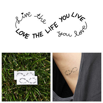 Infinity - Love Life - Temporary Tattoo (Set of 2)