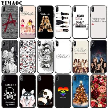 YIMAOC Pretty Little Liars tv Soft Silicone Phone Case for iPhone XS Max XR X 6 6S 7 8 Plus 5 5S SE 10 TPU Black flower Cover