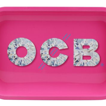 OCB Metal Rolling Tray - Diamond (Mini)
