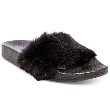 Steve Madden Women's Softey Pool Slides - Slippers - Shoes - Macy's