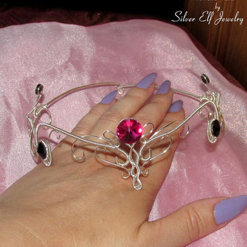 Arwen's Tiara, LOTR jewelry, elven tiara, elven circlet, wire wrapped, Cosplay jewelry, wire tiara