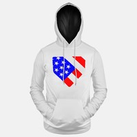 White USA Home Plate Hoodie (Ships in 2 Weeks)